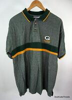 VTG NFL Green Bay Packers Men's Polo Shirt NFL Gameday Logo 7 Sz Men's XL