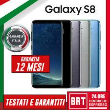 SMARTPHONE SAMSUNG GALAXY S8 64GB SM-G950 G950F RICONDIZIONATO RIGENERATO _24H!!