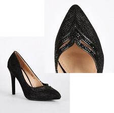 Unbranded Canvas High (3-4.5 in.) Women's Heels