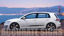 GRAPHICS SET FOR GOLF MK5 MK6 MK7 GTI STICKERS STRIPES DECALS ANY COLOUR