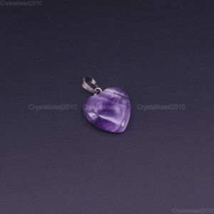 Natural Gemstones Heart Mixed Stone Reiki Chakra Healing Beads Pendant 20mm Pick