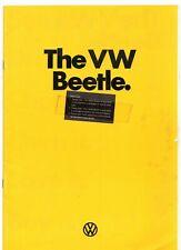 Volkswagen Beetle 1972-74 UK Market Sales Brochure 1303 S 1300 1200 Convertible