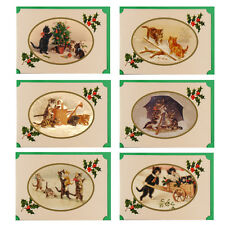 36 Victorian Cats & Kittens Blank Christmas Cards XC0008
