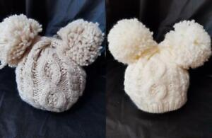 BABY CABLE KNIT HAT & MITTENS 0-12 months