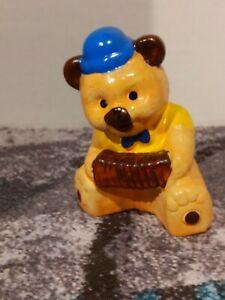 Bear With Accordian Coin Bank