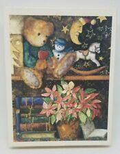 Lang Christmas cards Holiday Dreams Krajewski artwork teddy bear poinsettia 18