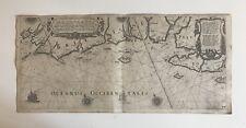 Jansson, Carte marine Bretagne sud 1635 de Brest jusqu'à l' Ile de Ré