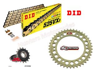 Honda CBR600F4i DID Gold X-Ring Chain and Renthal Sprocket Kit Set