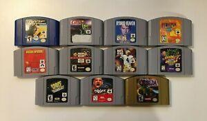 Nintendo 64 N64 Video Game Cartridges - You Pick - US Seller