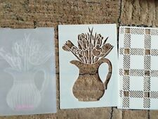 Gemini 3d embossing folder and stencil plus background