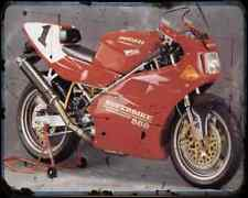 Ducati 888 Sp5 94 1 A4 Photo Print Motorbike Vintage Aged