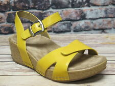 Dansko Laurie Burnished Calf Yellow Leather Sandal  *1823-170600