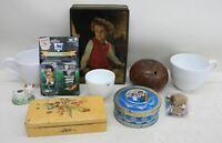 Mugs Boxes Coconut Shell Corinthian David Seaman Charles & Diana JOB LOT 10x
