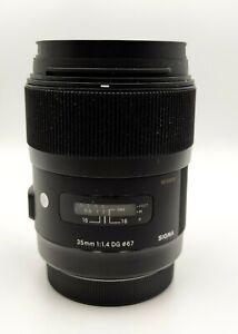 Sigma 35mm f/1.4 DG HSM A1 Lens for Canon EF - Mint