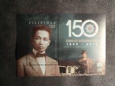 2019 PHILIPPINES EMILIO AGUINALDO 150th BIRTHDAY ANNIV. SOUVENIR SHEET/STAMP MNH
