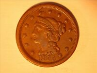 1855 BRAIDED HAIR LARGE CENT <> XF - 1031