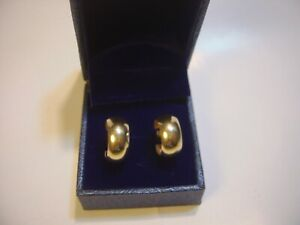 VINTAGE BEAUTIFUL 9CT GOLD EARINGS TRADITIONAL HOOPS CLEANED QUALITY-BEST COND