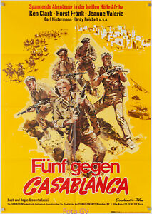Filmplakat Fünf gegen Casablanca/Desert Commandos 1968 Horst Frank, Lenzi