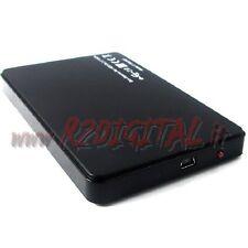 """BOX ESTERNO IDE 2.5 USB HD HARD DISK 2.5"""" CASE PICCOLO PATA ATA DATI COMPUTER"""
