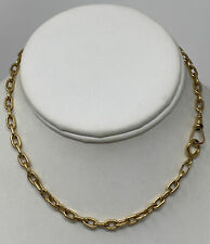"""VTG 14K Yellow Gold Pocket Watch Heavy Link Chain Fob 20  grams 13.5"""" Chain"""