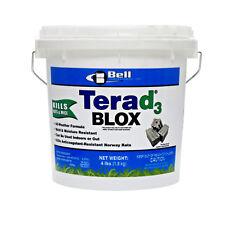 Terad3 Blox Rodent Rat Mouse Bait Blocks 4Lbs Vitamin D3 Rodent Bait Bell Labs