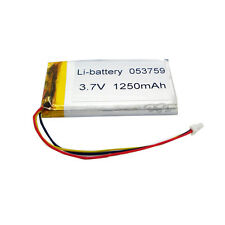 3.7V 1250mAh Li-polymer Rechargeable Battery 3-wires connectors 053759 for GPS