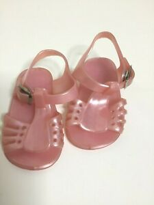 Vintage Pink Sandals Button Dolls Size 2
