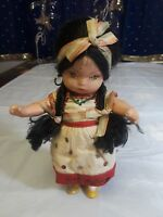 "Composition Mexican Ethnic Doll 8"" Circa 1930"