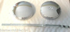 Harley 45 Servicar Gas & Oil Tank Caps W WL WLD WR Chrome Plated W/ Dip Stick