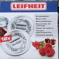 12 Leifhiet Sealing  Discs Fit Kilner Dual Purpose Jars. Vacuum Sealers