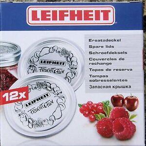 12 Leifhiet Sealing  Discs Fit Kilner Dual Purpose Jars. Vacuum Sealers