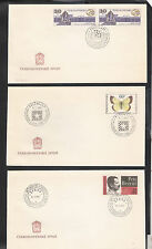 Czechoslovakia: 8 Covers with Esperanto, differents cancellations. CZ03