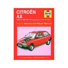 Citroen AX 1.0 1.1 1.4 Petrol 1.4 1.5 Diesel 87-97 (D to P Reg) Haynes Manual
