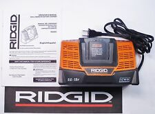 RIDGID 9.6v-18v 18 VOLT X4 DUAL CHEMISTRY FAST LITHIUM BATTERY CHARGER R840093