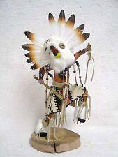 Hopi Native American Kachina Doll Carved White Owl by Sammie Walker