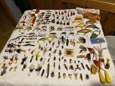 New listing Huge lot Different Vintage Fishing Lures some Antique crank baits fly rod Heddon