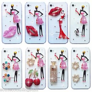 NEW BLING DELUX DIAMANTE SPARKLE DRESS CASE COVER FOR SAMSUNG iPHONE SONY HTC S8