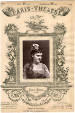 Lemercier, Paris-Théâtre, Paola Marié, chanteuse lyrique Vintage albumen Print