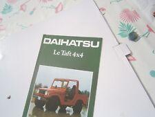 Catalogue pub auto prospectus voiture Daihatsu Le taft 4x4