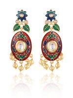New Design Indian Fashion Women Vintage Handmade Colorful Flower Earrings Girls