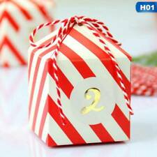 24PCS/Set Candy Box Red And White Stripes Personality White Cardboard XJX2