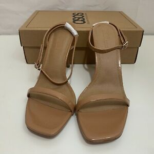 ASOS Womens NIB Nova Barely There Heeled Sandals in Beige Size US 11 / UK 9