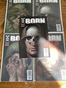 BORN (2003) Complete Set #1-4 Vf+/NM Complete Run Marvel Max Garth Ennis extra 1