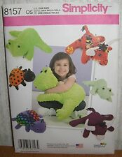 Crafts Toy Stuffed Animals Frog Lady Bug Bull Sewing Pattern/Simplicity 8157/UCN
