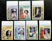 1974-85 Barbuda Stamps Her Majesty Queen Elizabeth with Specimen