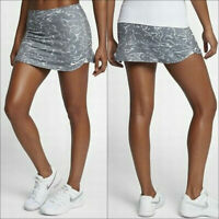 "NWT $55 NIKE Court Pure Printed 12"" Women Tennis Skirt Skort Gray Size M"
