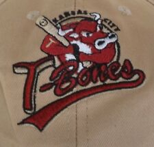KANSAS CITY T-BONES Embroidered 2006 Northern All-Star Game Baseball Cap Tan