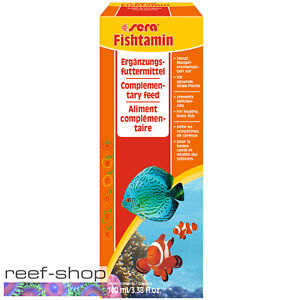 Sera Fishtamin 100 mL Liquid Vitamin Formula for Marine & Freshwater Fish