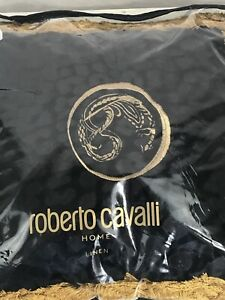 Roberto Cavalli Home Sigillo Black Cushion - New