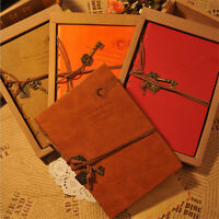 1x Retro Vintage Classic PU Leather Diary Notebook String Key Journal Sketchbook